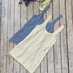Tops - NWT NWOT 2 tanks ivory and periwinkle size XS
